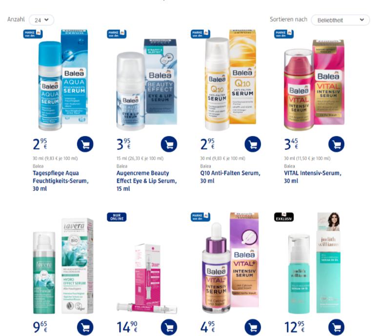 德國連鎖藥妝店的平價精華液,有所款可供選擇