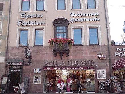 紐倫堡的一間薑餅專賣店(圖片來源:維基百科)