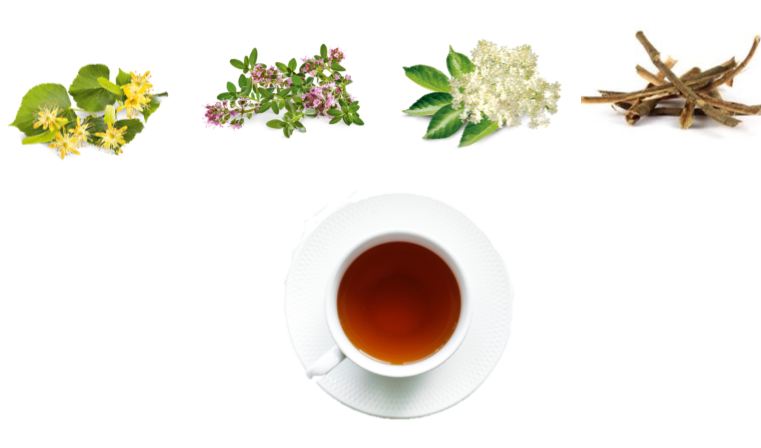 德國的感冒茶是由天然的藥草調配而成,溫和緩解感冒所引起的症狀