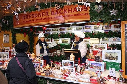 德雷斯頓的Striezelmarkt斯替徹爾耶誕蛋糕市場